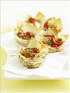 Roast Capsicum and Anchovy Mountain Cups