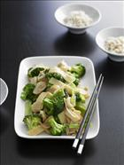 Asian Broccoli with Bamboo Shoots and Water Chestnuts