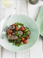 Grilled Lamb Fillet and Warm Lentil Salad