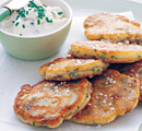Mushroom and Herb Fritters