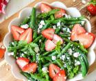 Bean Salad with Strawberries & Feta